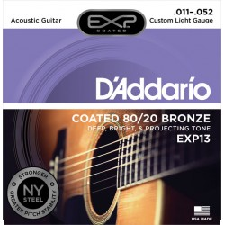 Corzi chitara acustica D'Addario EXP13 Custom Light Gauge